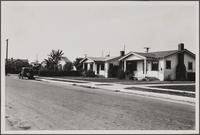 [Bungalows on north side of 54th Street, Maywood, looking from southeast, west of Loma Vista Avenue]