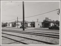 [Cheap structures on Eagle Rock Boulevard, looking east from north of York Boulevard]