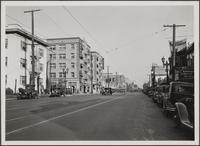 [Hollywood Boulevard, looking northeast from Hollywood Boulevard and St. Andrews Place]