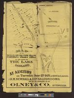 Map of the Pleasant Valley Tract at the head of the lake, Oakland [recto]