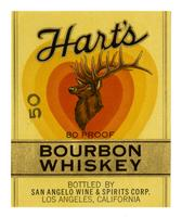 Hart's bourbon whiskey, San Angelo Wine & Spirits Corp., Los Angeles