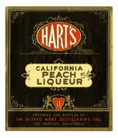Hart's California peach liqueur, The Alfred Hart Distilleries, Los Angeles