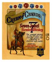 Cream of Canada Seven Jewel blended whiskey, Distillers Distributing Corp., San Francisco