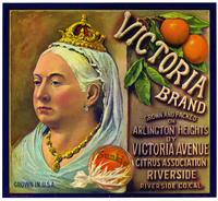 Victoria Brand oranges, Victoria Avenue Citrus Association, Riverside