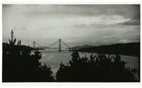Golden Gate Bridge construction, view from Land's End