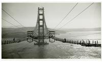 Golden Gate Bridge, constructing catwalks