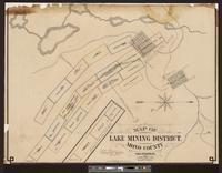 Map of Lake Mining District, Mono County, California