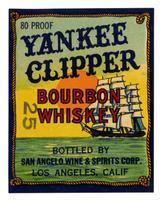 Yankee Clipper bourbon whiskey, San Angelo Wine & Spirits Corp., Los Angeles