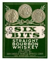 Six Bits straight bourbon whiskey, San Angelo Wine & Spirits Corp., Los Angeles