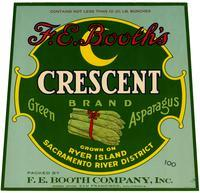 F. E. Booth's Crescent Brand green asparagus, F. E. Booth Company, Inc., Ryer Island, Sacramento River District