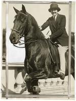 Miss Beatrice Alcott riding Princess Pat, October 20, 1928