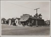 Northwest corner of Kearney and Utah Streets, East Side; Mexicans in front of Japanese grocery