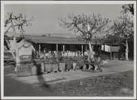 Mexican settlement north of gas tanks at railway section house, Pasadena