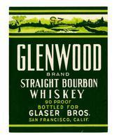 Glenwood Brand straight bourbon whiskey, Glaser Bros., San Francisco