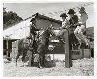 Horsewomen at the stables