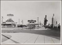 Sandwich shop, Wilshire Boulevard and Le Doux Road., east on Wilshire Boulevard