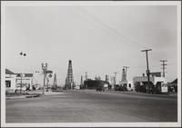 Oil wells on Beverly Boulevard, West Hollywood