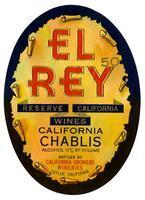 El Rey California Chablis, California Growers Wineries, Cutler
