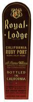 Royal Lodge California ruby port, Elk Grove Winery, Elk Grove