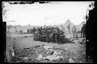 Troops eating, Camp Merritt, San Francisco
