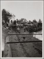 Open storm drain east of Madison Avenue between Walnut Street and Colorado Boulevard, Pasadena