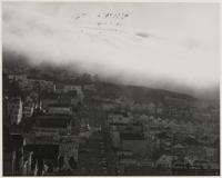 Fog, looking toward Twin Peaks, San Francisco