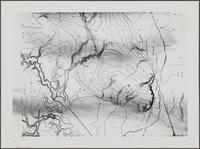 Section of unidentified topographical map, Los Angeles County
