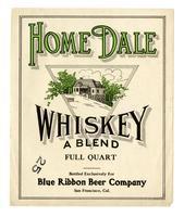 Home Dale whiskey, Blue Ribbon Beer Company, San Francisco