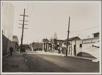 Looking west on Turner Street from Garey Street; Japanese neighborhood