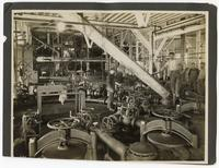 Machinery used to extract saccharine juice from beets, California