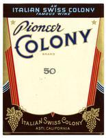 Pioneer Colony Brand, Italian Swiss Colony, Asti
