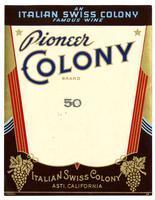 Pioneer Colony Brand, Italian Swiss Colony, Asti