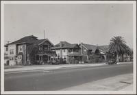 Two-story houses on Broadway, just north of Santa Barbara Street