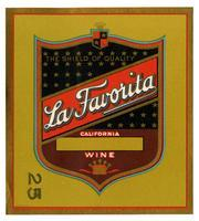 La Favorita brand, California wine