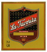La Favorita brand, California wine