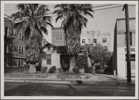 L-shaped country frame house on north side of Venice Boulevard between Hope Street and Grand Avenue