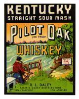 Pilot Oak whiskey, R. L. Daley, Pacific Coast Distributors, San Francisco and Los Angeles