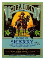 Mira Loma Brand sherry, Fruit Industries, Ltd., Guasti