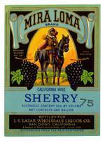 Mira Loma Brand sherry, Fruit Industries, Ltd., Guasti