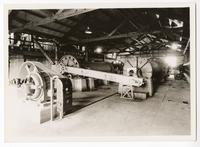 Tube mills in factory for extracting rubber from guayule plants