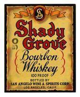 Shady Grove bourbon whiskey, San Angelo Wine & Spirits Corp., Los Angeles