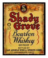 Shady Grove bourbon whiskey, San Angelo Wine & Spirits Corp., Los Angeles