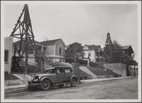 Oil rigs on Court Street from Bixel Street
