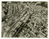 Aerial view of West Portal District, San Francisco