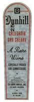 Dunhill California dry sherry, Elk Grove Winery, Elk Grove