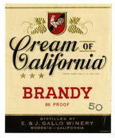 Cream of California brandy, E. & J. Gallo Winery