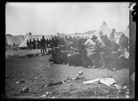 Troops eating, Camp Merritt, San Francisco