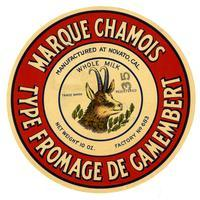 Marque Chamois type fromage de Camembert, Novato