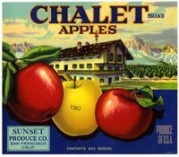 Chalet Brand apples, Sunset Produce Co., San Francisco
