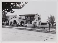 4th Avenue Mediterranean-style house, looking toward southwest from south of Santa Barbara Avenue
